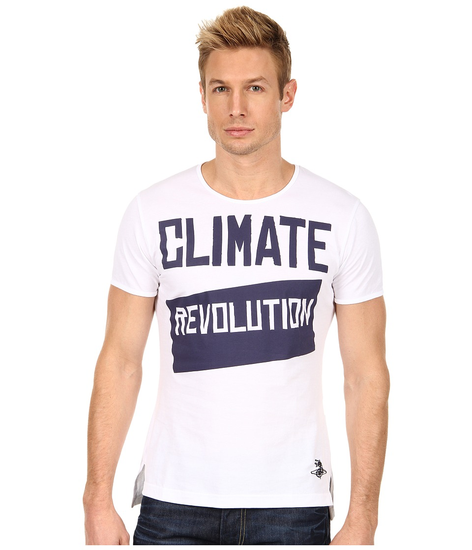 Vivienne Westwood MAN - Classic Revolution Tee (White) Men's T Shirt