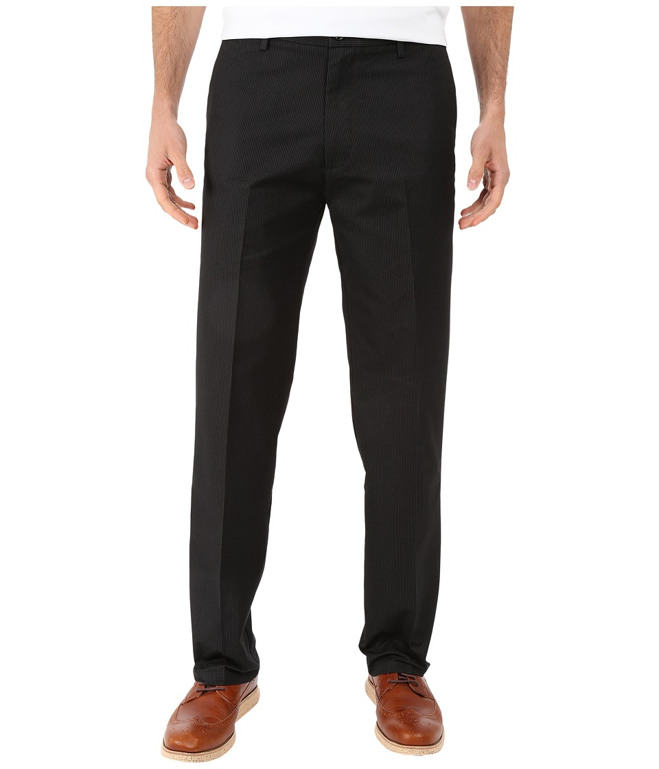 Dockers Men's - Signature Khaki D2 Straight Fit Flat Front (Black Stripe) Men's Casual Pants