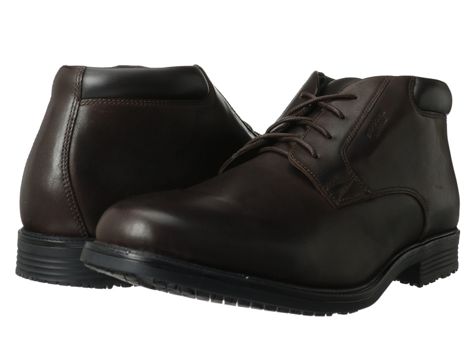 Rockport - Essential Details Waterproof Dress Chukka (Dark Brown) Men's Lace-up Boots