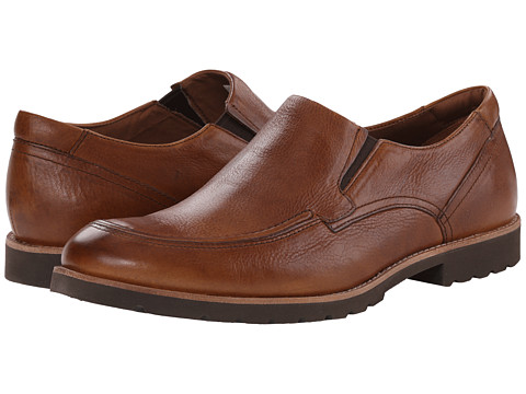 Rockport - Ledge Hill Slip On (Caramel Tumbled) Men's Shoes