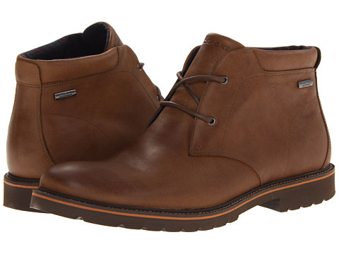 Rockport - Ledge Hill Waterproof Chukka (Dark Vicuna) Men's Shoes