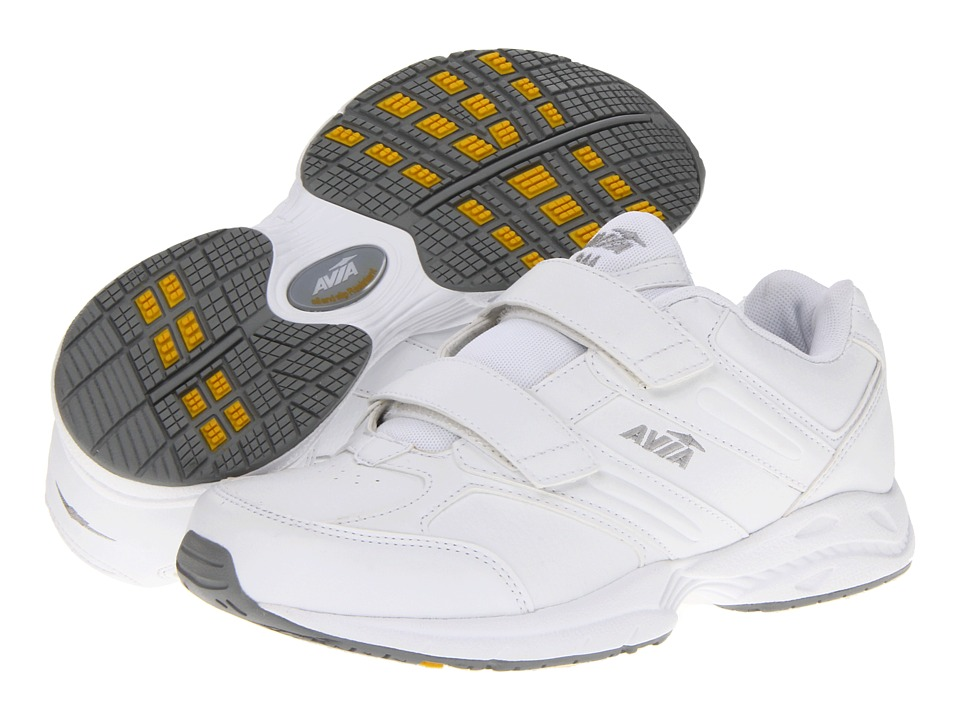 Avia - Avi-Walker Strap (White/Chrome Silver/Lemon Yellow) Women's Walking Shoes