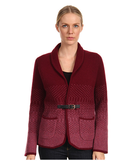 Paul Smith - Intarsia Cardigan (Burgundy/Pink) Women's Sweater