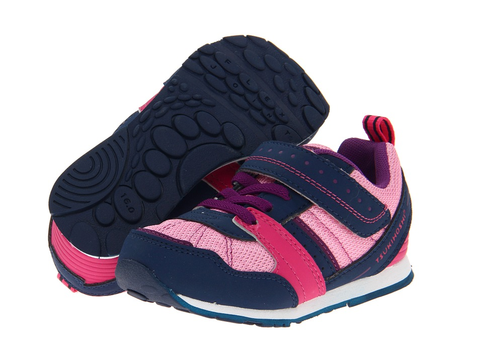 Tsukihoshi Kids - Earth (Toddler/Little Kid) (Navy/Pink) Girls Shoes