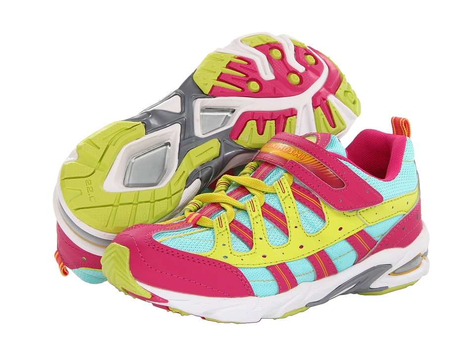 Tsukihoshi Kids - Speed (Little Kid/Big Kid) (Fuchsia/Mint) Girls Shoes
