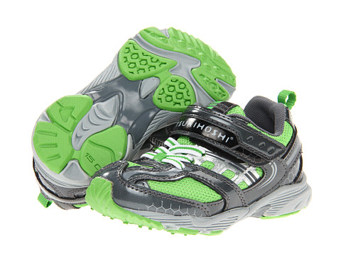 Tsukihoshi Kids - Sprint (Toddler/Little Kid) (Graphite/Green) Boys Shoes