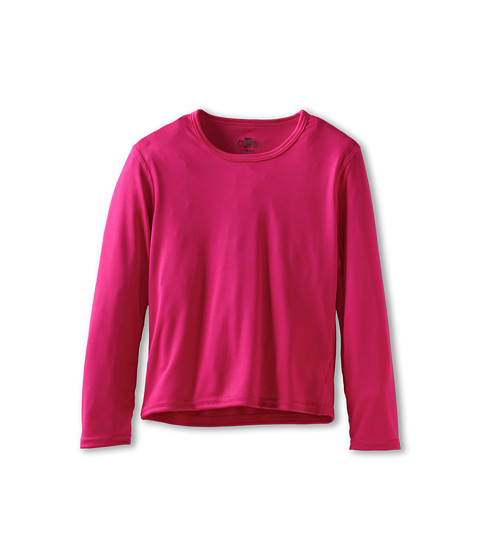 Hot Chillys Kids - Peach Crewneck (Little Kids/Big Kids) (Razzle) Girl