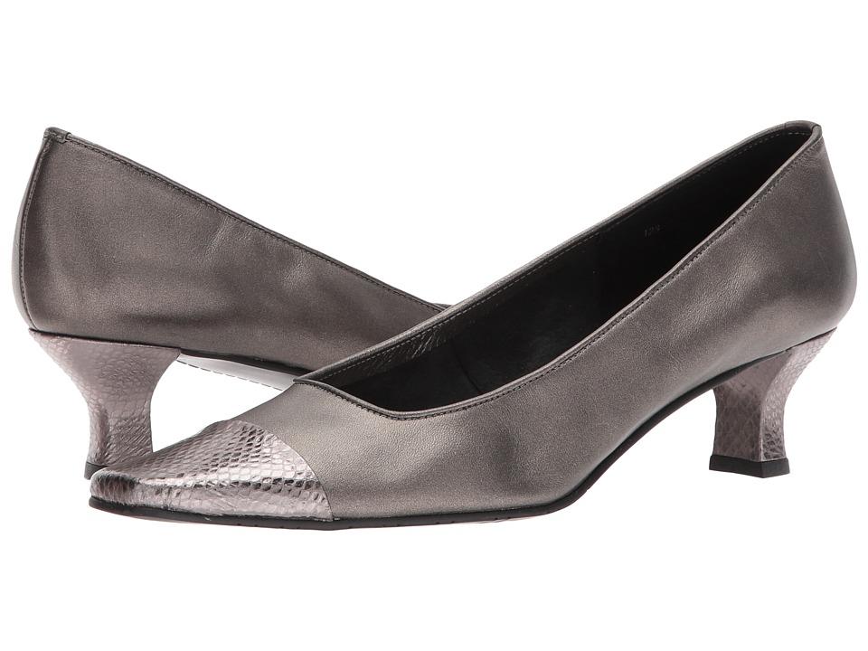 Vaneli - Rickie (Pewter Pearl Nappa/Squama) Women's 1-2 inch heel Shoes