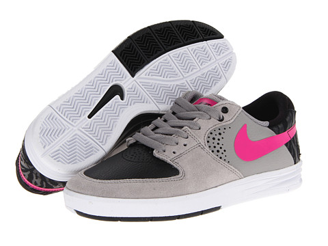 Nike SB - Paul Rodriguez 7 (Medium Grey/Black/Pink Foil) Men's Skate Shoes