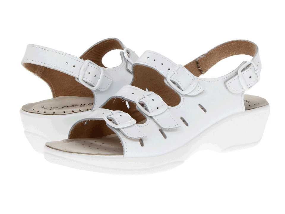 Spring Step - Willa (White Leather) Women's Sandals