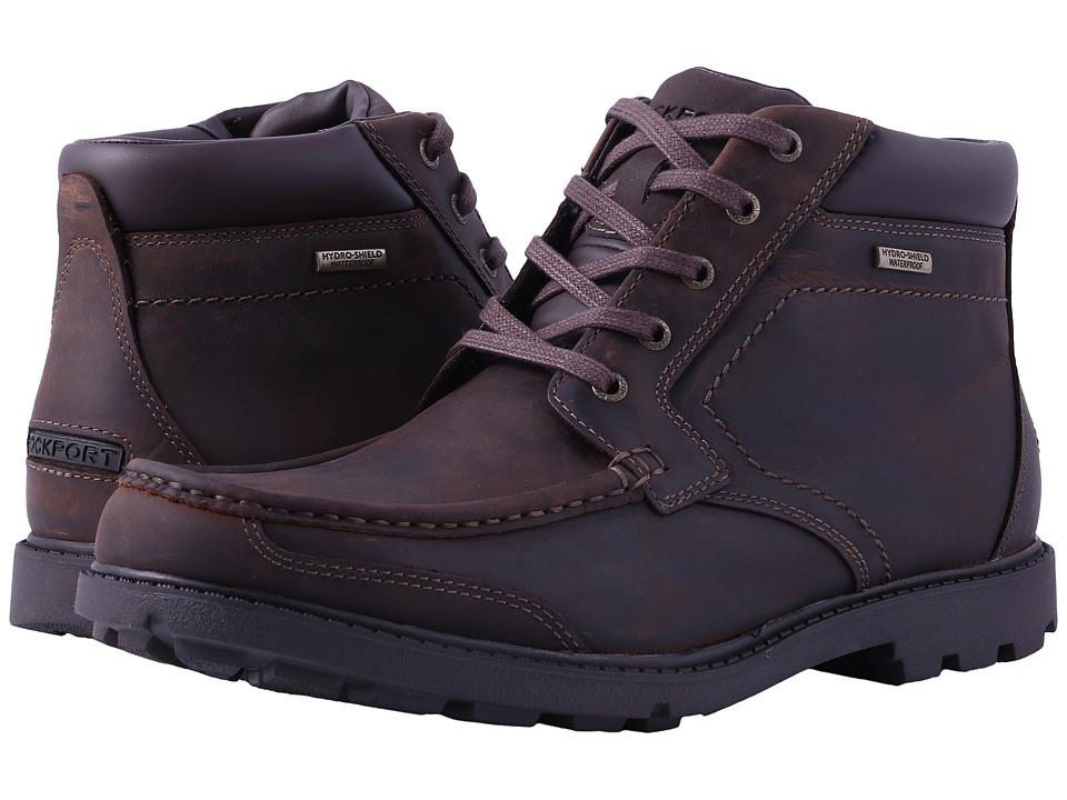 Rockport Rugged Bucks Moc Boot Waterproof (Dark Tan) Men