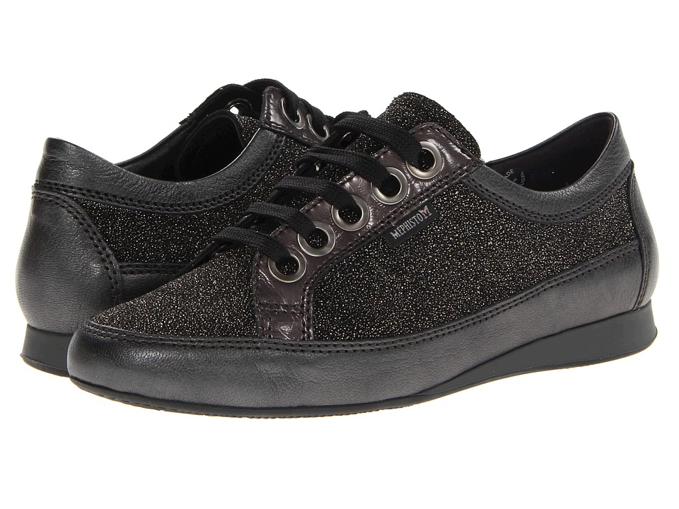 Mephisto - Bretta (Platinum Sophia/Dark Grey Ceylan/Steel Crinkle Patent) Women's Lace up casual Shoes