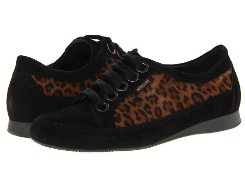 Mephisto - Bretta (Black Velcalf Premium/Leopard Velours) Women's Lace up casual Shoes
