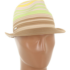 SALE! $16.99 - Save $23 on Calvin Klein Color Block Ribbon Fedora (Lime) Hats - 57.53% OFF $40.00