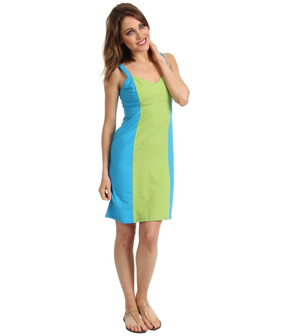 Tommy Bahama Koko Jersey Colorblock Dress Womens Dress (Blue)