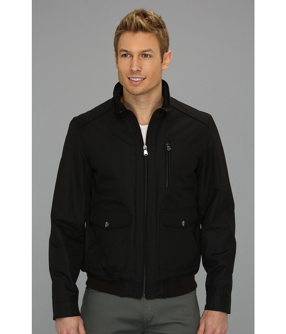Perry Ellis - Dobby Tech Bomber Jacket CP626911 (Black) Men's Coat