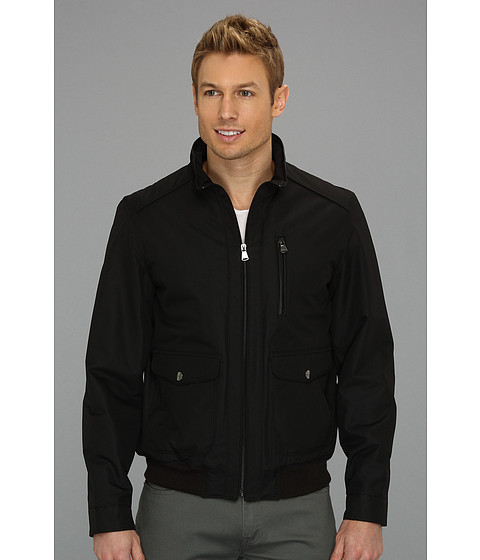 Perry Ellis - Dobby Tech Bomber Jacket CP626911 (Black) Men's Coat