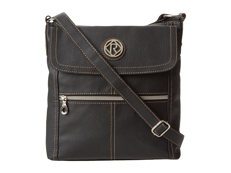 Relic - Erica Flap Crossbody (Black) Cross Body Handbags