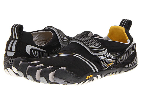 Vibram FiveFingers - Komodo Sport (Black/Silver/Grey) Men's Running Shoes