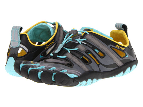 Vibram FiveFingers - TrekSport Sandal (Grey/Aqua/Black) Women's Running Shoes