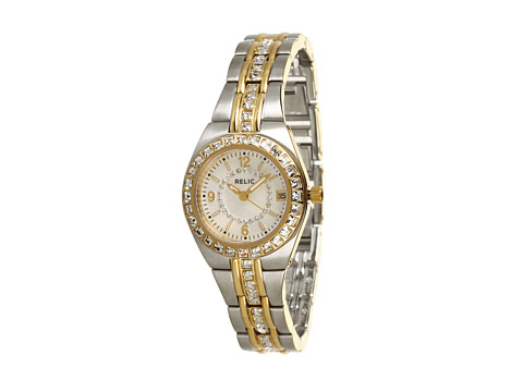 Relic - Queen's Court Glitz (Two-Tone/White/Mother-of-Pearl) Watches