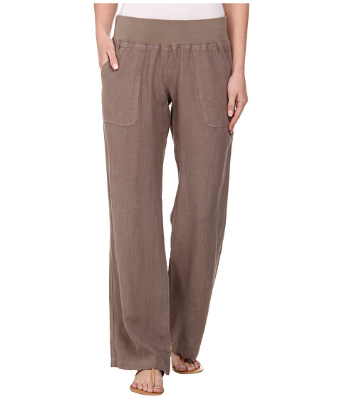 Allen Allen - Linen Long Pant (Mushroom) Women's Casual Pants
