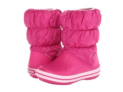 Crocs Kids - Winter Puff Boot (Toddler/Youth) (Fuchsia/Bubblegum) Kids Shoes