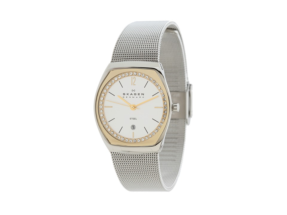 Skagen - Skagen Classics (Gold/Silver Mesh) Analog Watches