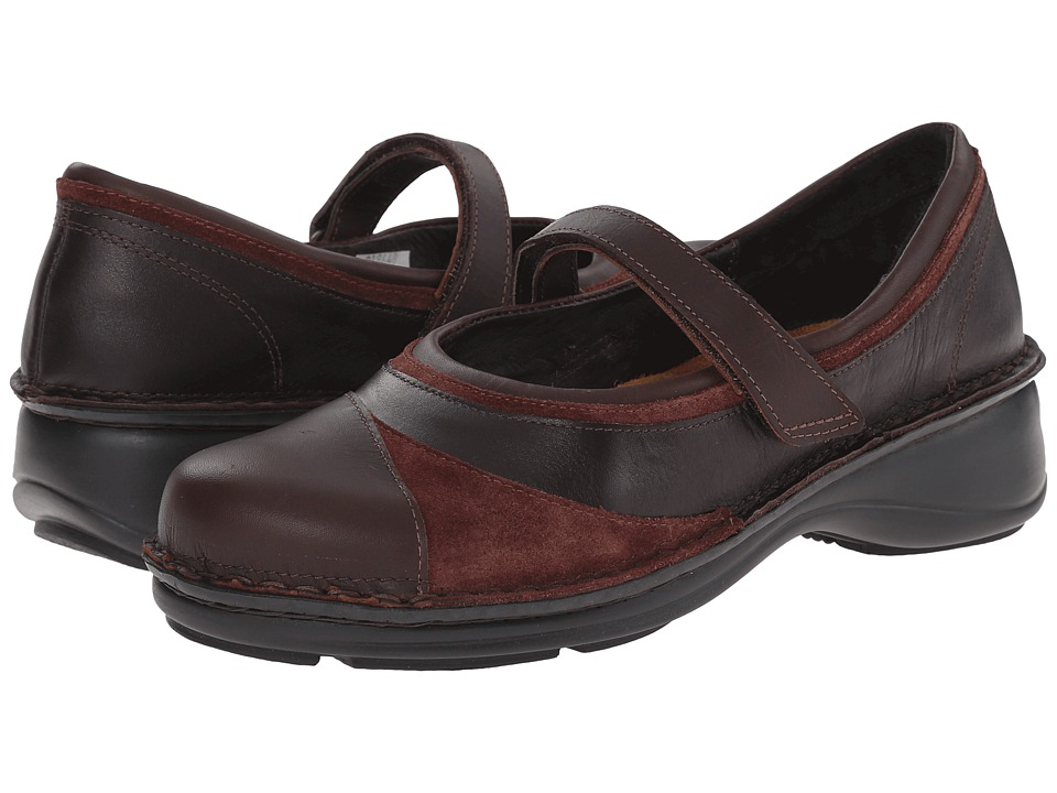 Naot Footwear - Ambrosia (French Roast Leather/Buffalo Leather/Wine Suede) Women's Shoes