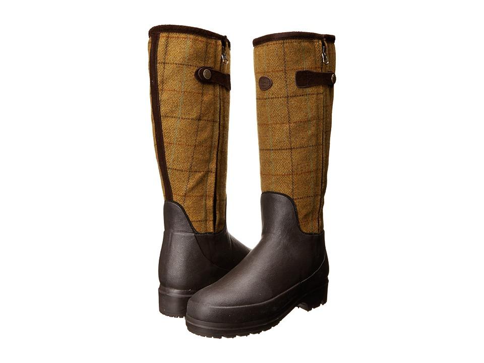 Le Chameau - Zena Tweed (Mustard Tweed) Women's Boots