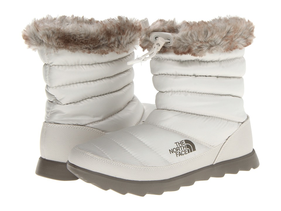 The North Face - Thermoball Micro-Baffle Bootie (Shiny Moonlight Ivory/Classic Khaki) Women