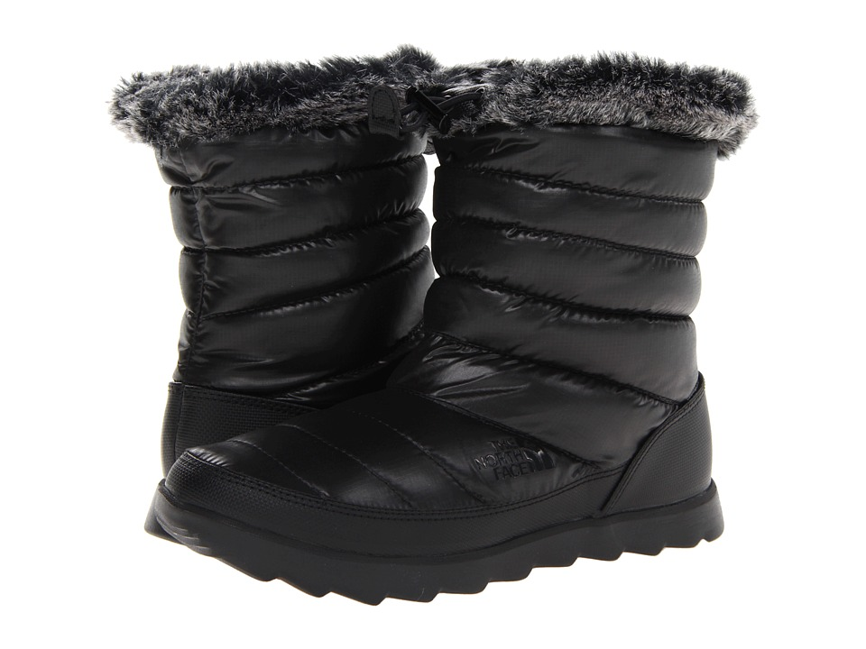 The North Face - Thermoball Micro-Baffle Bootie (Shiny TNF Black/TNF Black) Women's Slippers