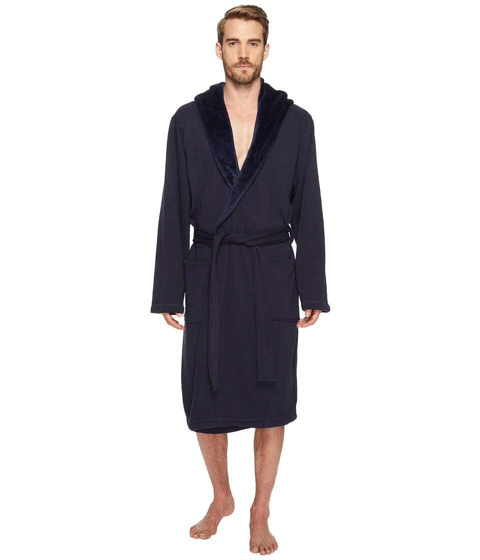 UGG - Brunswick Robe (Navy) Men's Robe