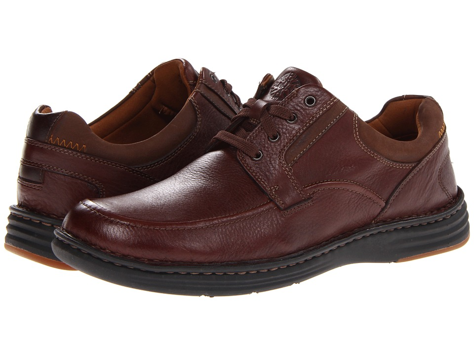 Dunham - REVCandor Moc Toe Oxford (Dark Brown) Men's Lace up casual Shoes