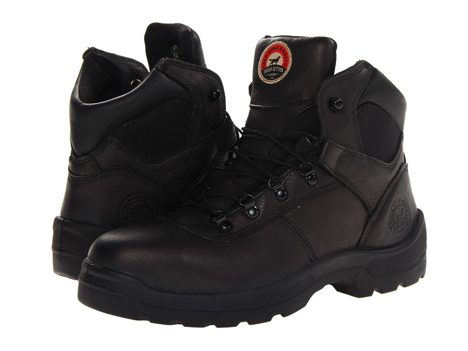 Irish Setter - 83612 6 Steel Toe Hiker (Black) Men's Work Boots
