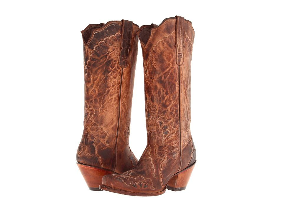 Tony Lama - 6071L (Tan Saigets) Cowboy Boots