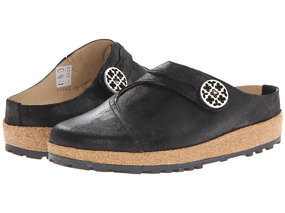 Haflinger - Adventure (Distressed Black) Women's Clog Shoes