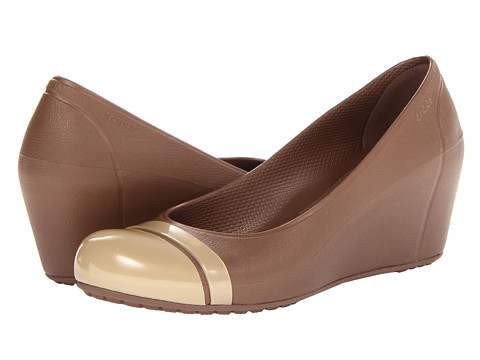 Crocs - Cap Toe Wedge (Bronze/Gold) Women