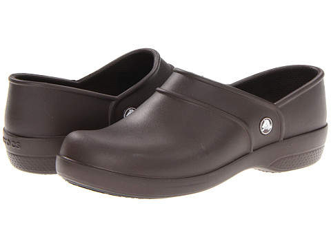 Crocs - Neria Work (Espresso) Women's Clog Shoes