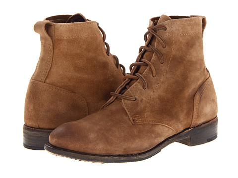 Walk-Over - Vintage Collection - Lilly (Cork Natural Suede) Women's Lace-up Boots