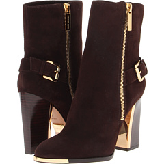 Michael Kors Collection Janell (Coffee Kid Suede) Footwear