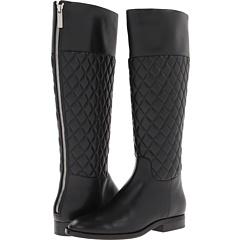 Michael Kors Collection Mina (Black Quilted Nappa Vachetta) Footwear