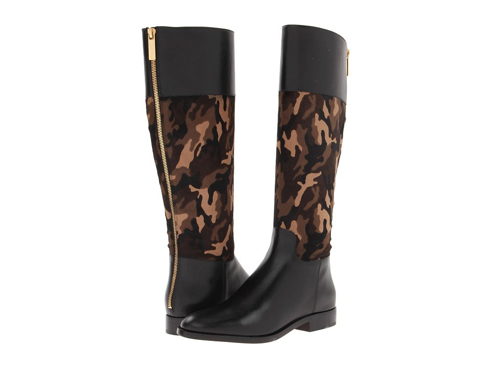 Michael Kors - Mina (Olive Camouflage Haircalf/Vachetta) Women's Boots