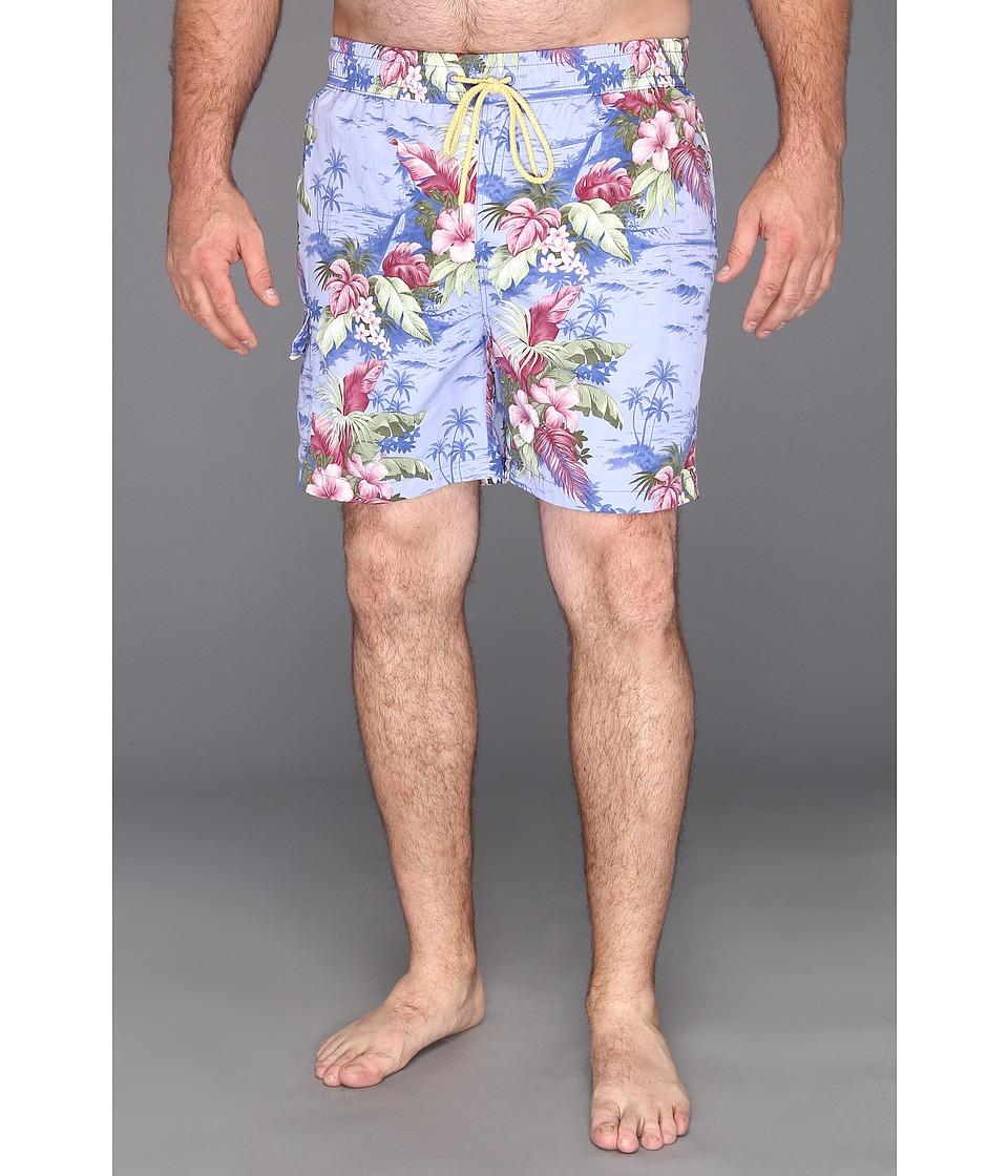 Tommy Bahama Big & Tall Big Tall Big Tall Fiji Ferns Swim Trunks Mens Swimwear (Blue)
