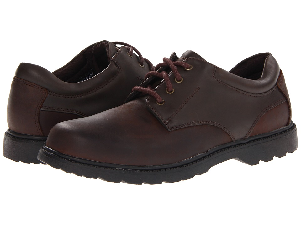Nunn Bush - Stillwater Plain Toe Oxford Lace-Up Waterproof (Brown Crazy Horse) Men's Shoes
