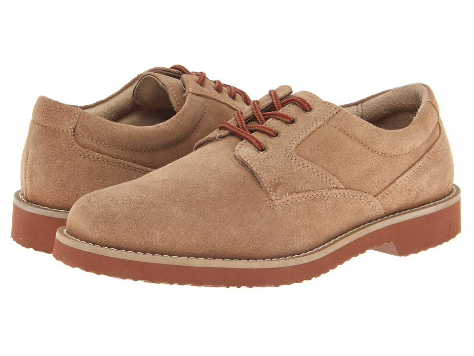 Nunn Bush - Bloomington Plain Toe Oxford Lace-Up (Sand Suede) Men's Shoes