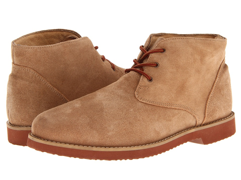 Nunn Bush Woodbury Plain Toe Casual Chukka Boot (Sand Suede) Men