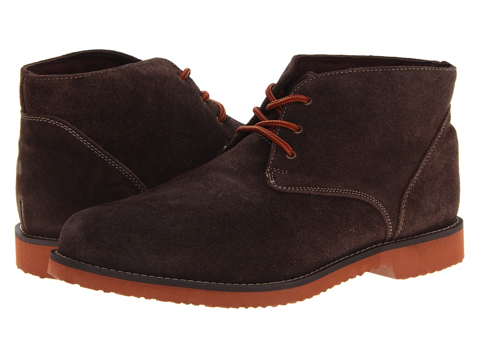 Nunn Bush Woodbury Plain Toe Casual Chukka Boot (Brown Suede) Men