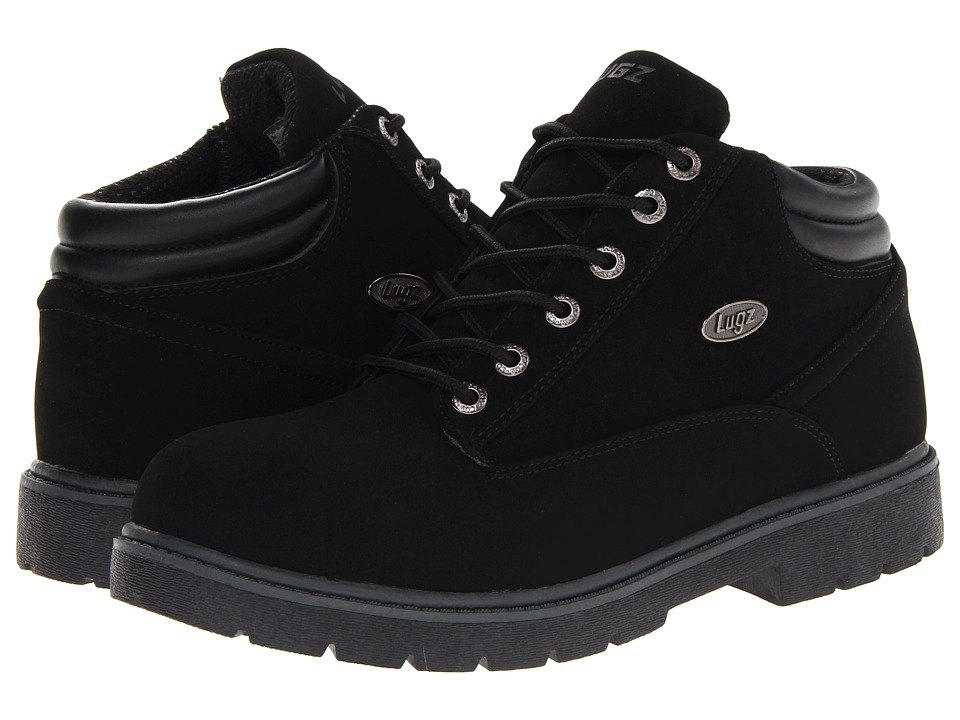 Lugz - Monster Mid (Black/Charcoal Durabrush) Men's Lace up casual Shoes
