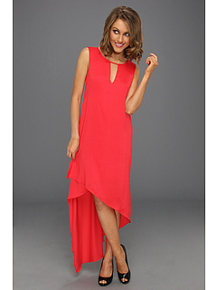 SALE! $99.99 - Save $98 on BCBGMAXAZRIA Willow Asymmetrical Dress (Lipstick Red) Apparel - 49.50% OFF $198.00
